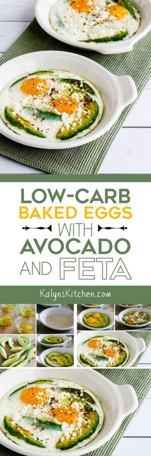Get the recipe Low-Carb Baked Eggs with Avocado and Feta @recipes_to_go