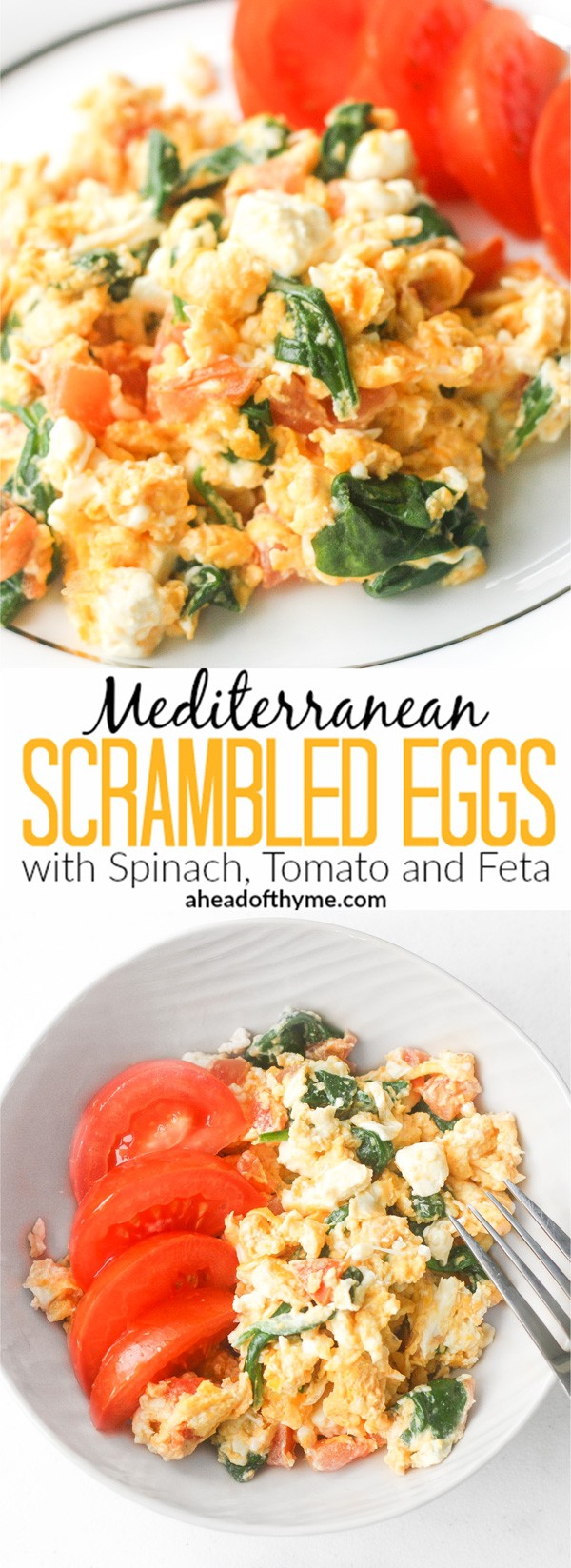 Get the recipe Mediterranean Scrambled Eggs with Spinach Tomato and Feta @recipes_to_go