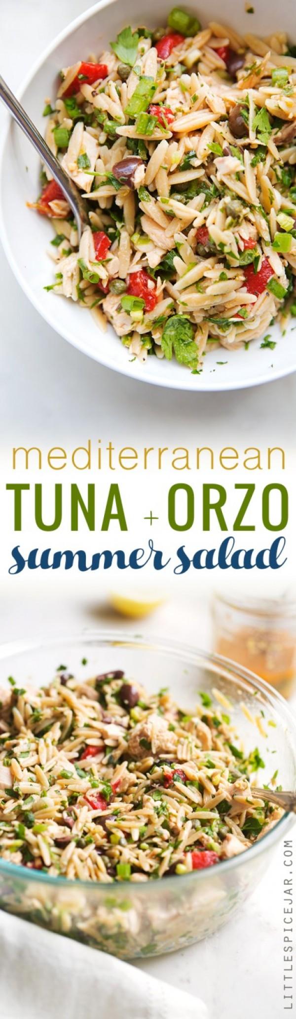 Get the recipe Mediterranean Tuna Orzo Summer Salad @recipes_to_go