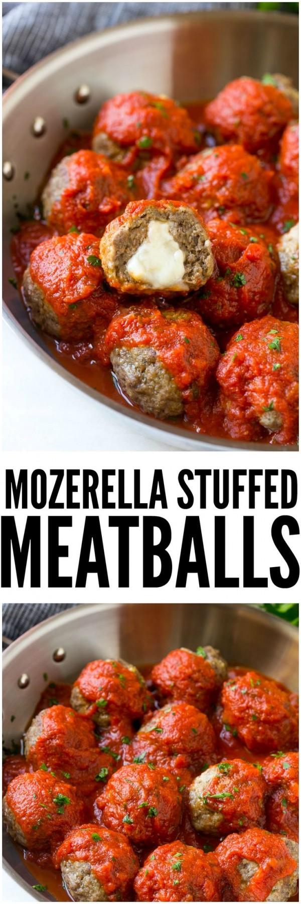 Get the recipe Mozzarella Stuffed Meatballs @recipes_to_go