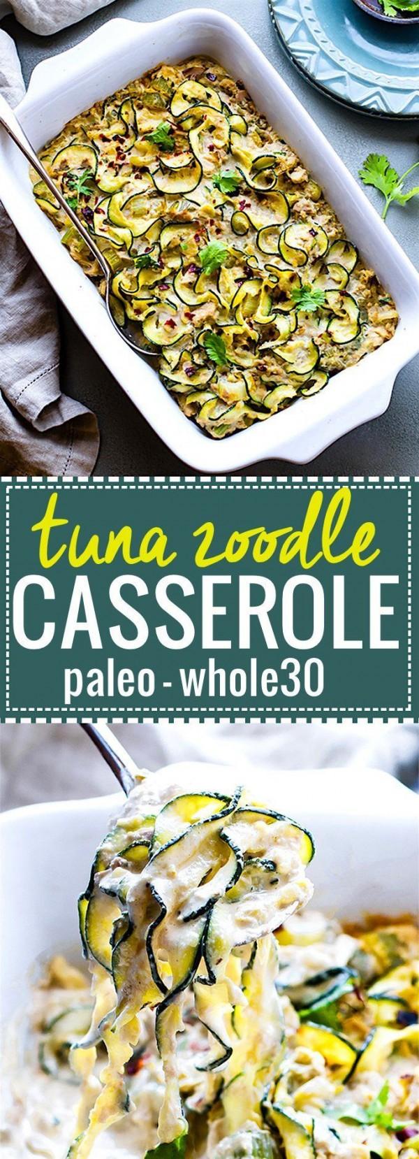Get the recipe Paleo Tuna Green Chile Zoodle Casserole @recipes_to_go