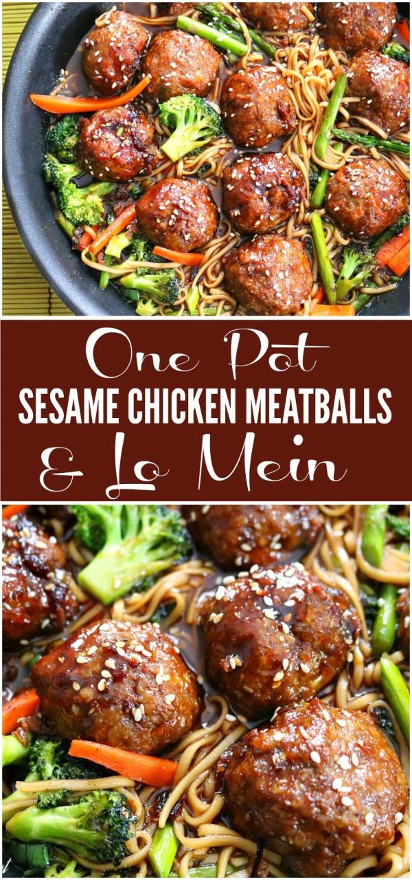 Get the recipe One Pot Sesame Chicken Meatballs @recipes_to_go