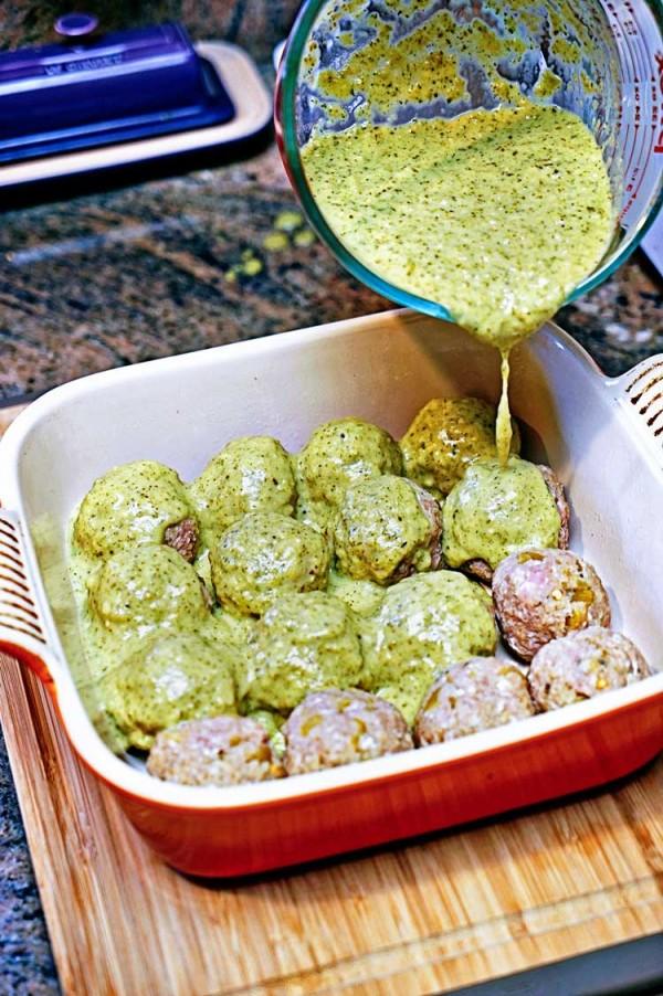 Get the recipe Stuffed Green Chili Meatballs in Tomatillo Sauce @recipes_to_go