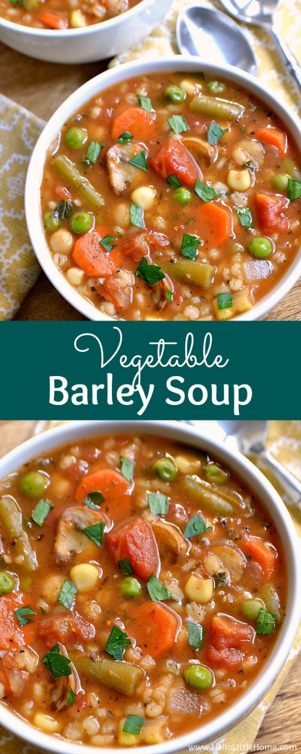 Get the recipes Vegetable Barley Soup @recipes_to_go