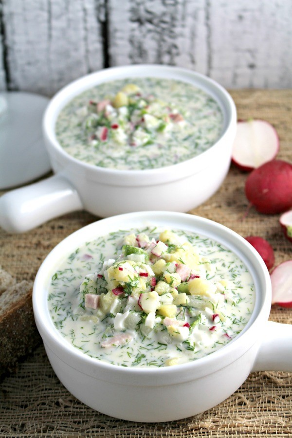 "Get the recipe Russian cold soup ""Okroshka"" @recipes_to_go"