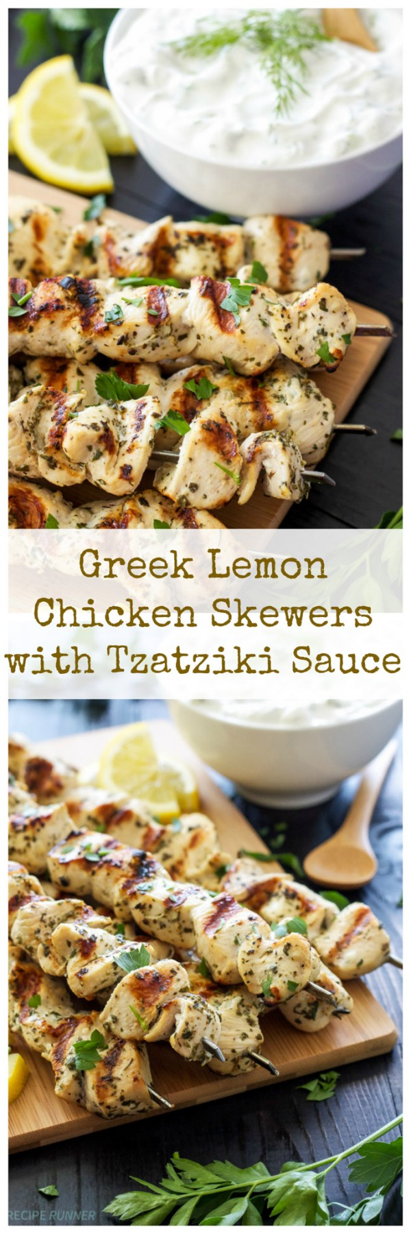 Get the recipe Greek Lemon Chicken Skewers with Tzatziki Sauce @recipes_to_go