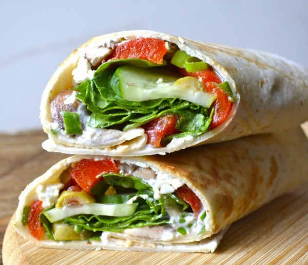 Get the recipe Greek Roasted Red Pepper Wraps @recipes_to_go