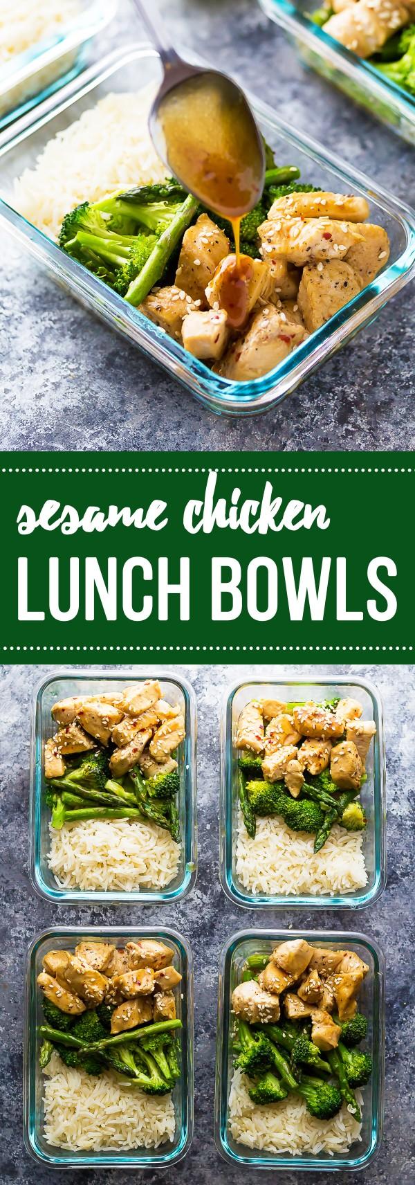 Get the recipe Sesame Chicken Lunch Bowls @recipes_to_go