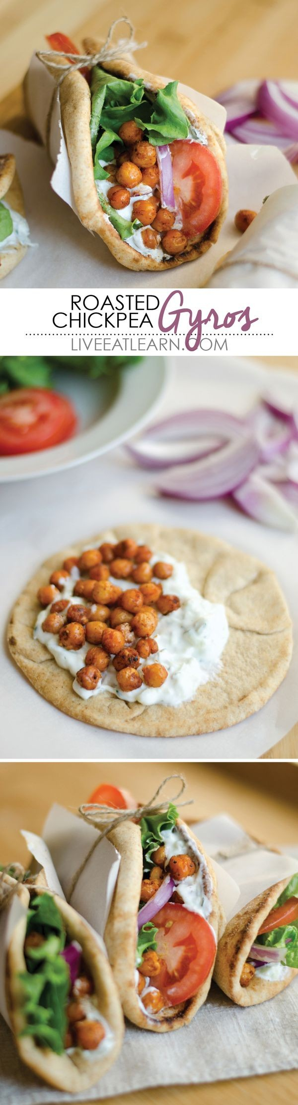 Get the recipe Roasted Chickpea Gyros @recipes_to_go