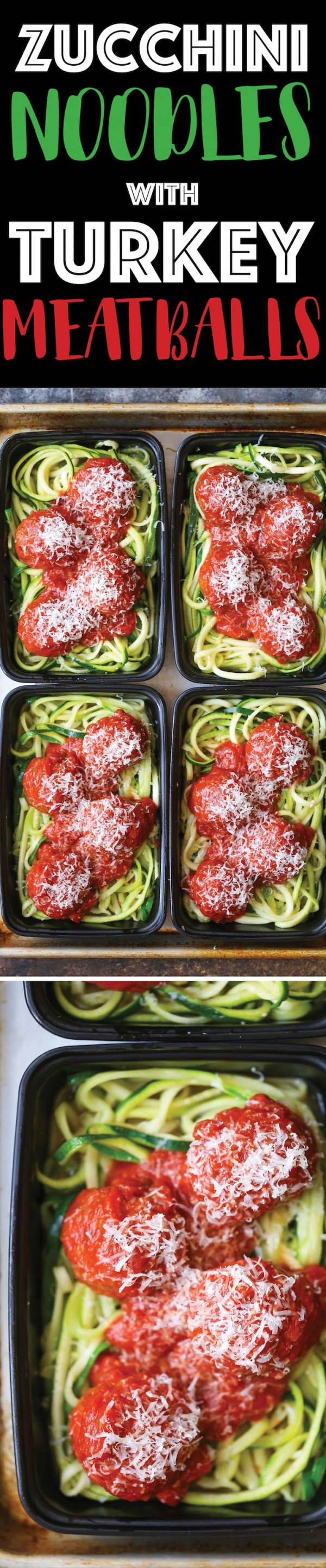 Get the recipe Zucchini Noodle with Turkey Meatballs @recipes_to_go