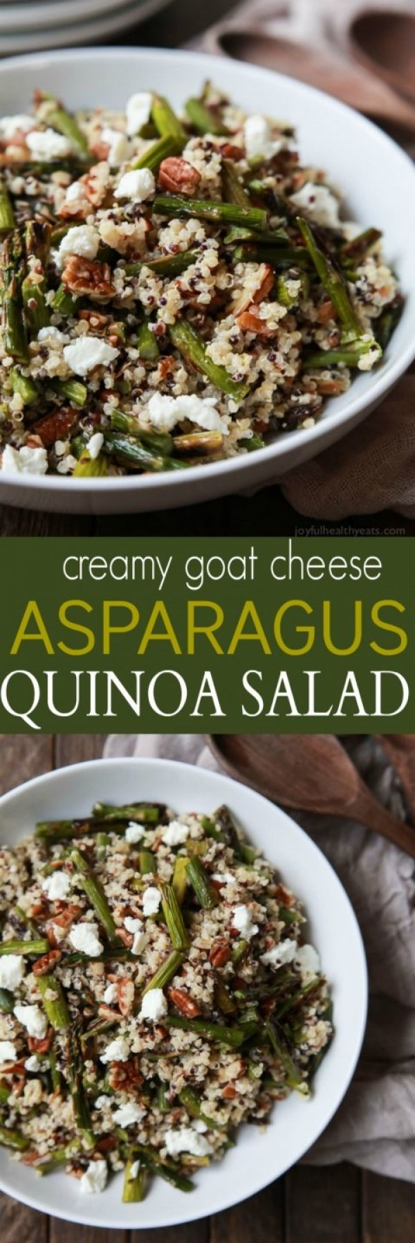 Get the recipe Goat Cheese Asparagus Quinoa Salad @recipes_to_go
