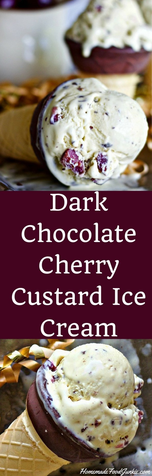 Get the recipe Dark Chocolate Cherry Custard Ice Cream @recipes_to_go