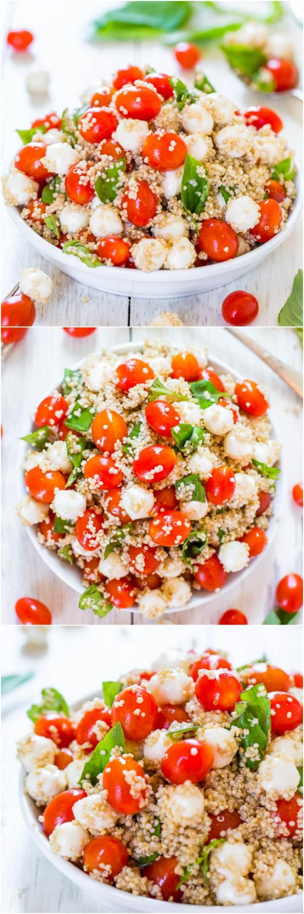 Get the recipe Tomato Mozzarella and Basil Quinoa Salad @recipes_to_go