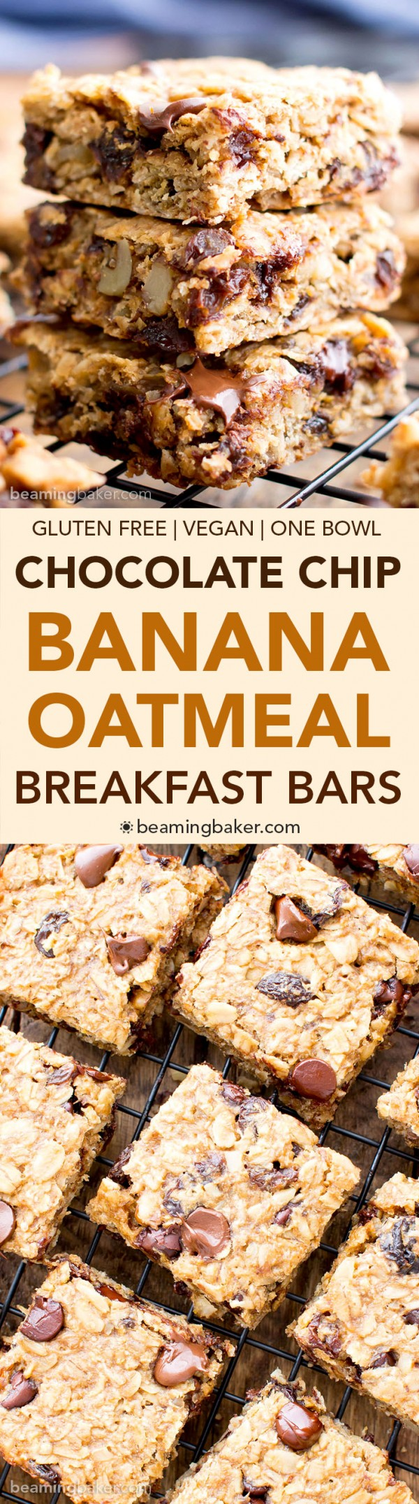 Get the recipe Chocolate Chip Banana Oatmeal Breakfast Bars @recipes_to_go