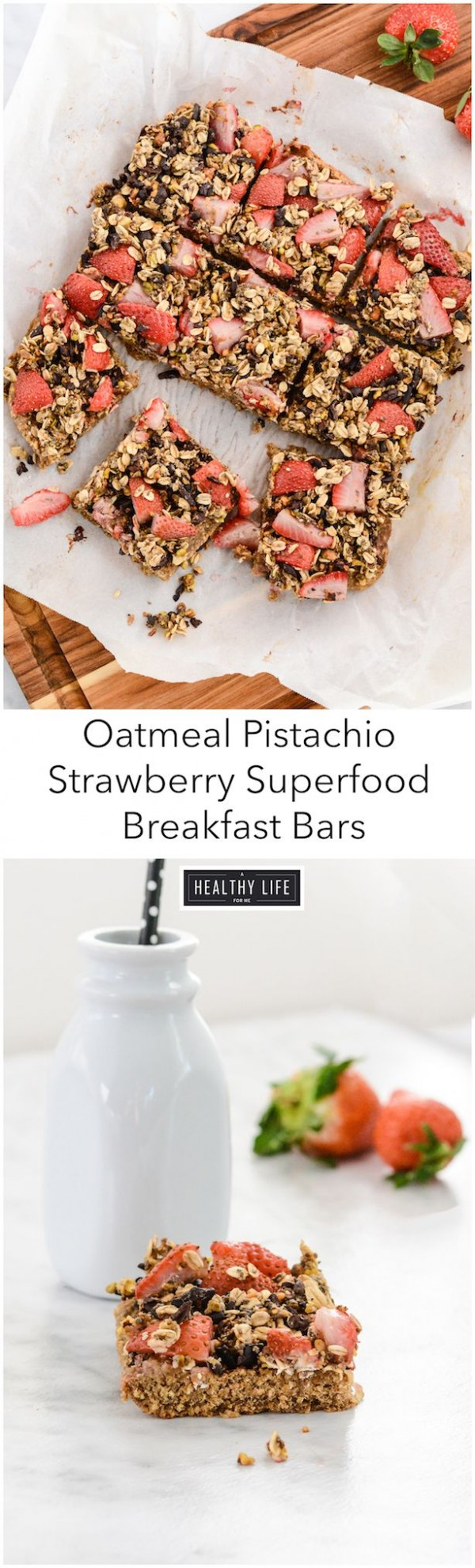 Get the recipe Oatmeal Pistachio Strawberry Superfood Breakfast Bars @recipes_to_go