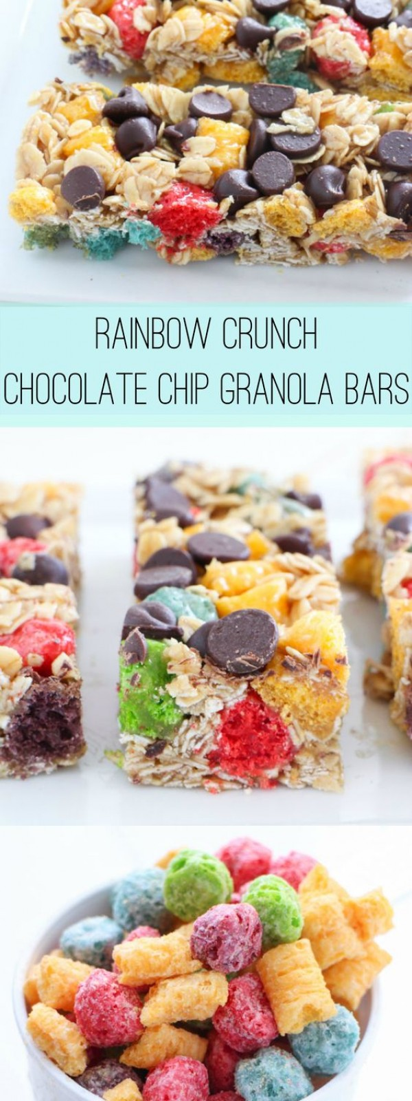 Get the recipe Rainbow Crunch Chocolate Chip Granola Bars @recipes_to_go