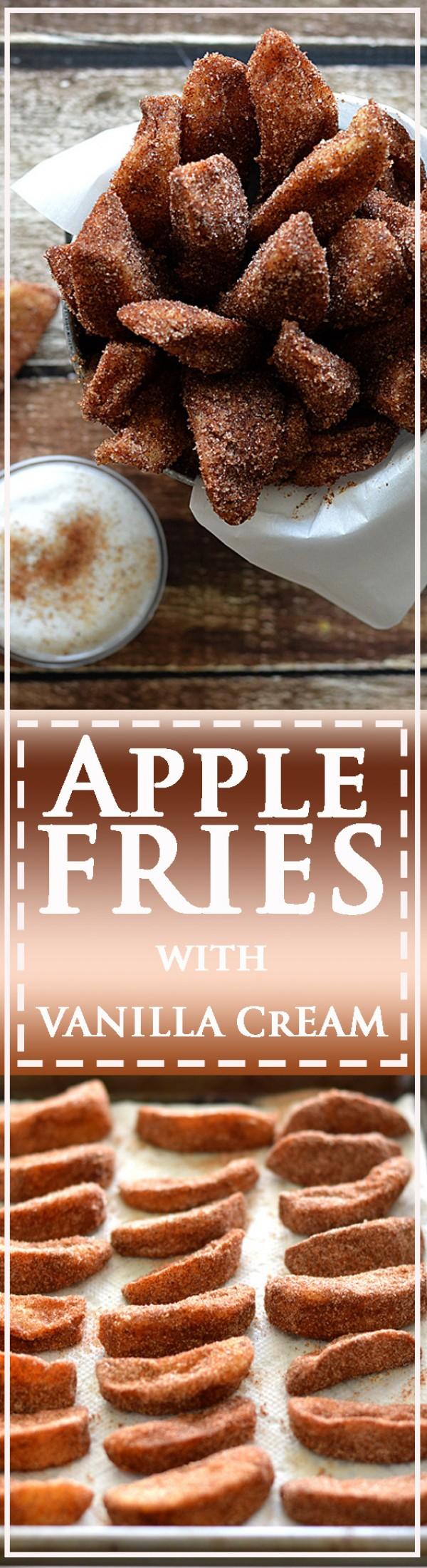Get the recipe Apple Fries with Vanilla Cream @recipes_to_go