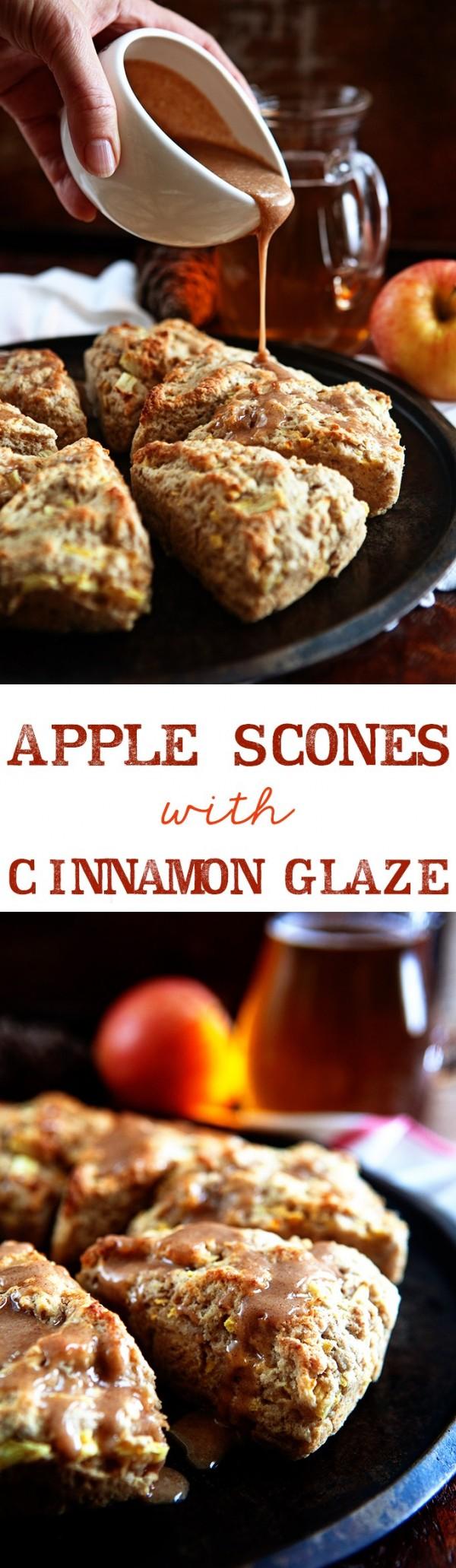 Get the recipe Apple Scones with Cinnamon Glaze @recipes_to_go