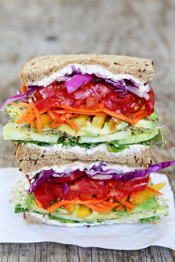 Get the recipe Rainbow Vegetable Sandwich @recipes_to_go