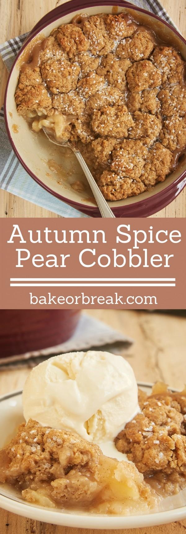 Get the recipe Autumn Spice Pear Cobbler @recipes_to_go