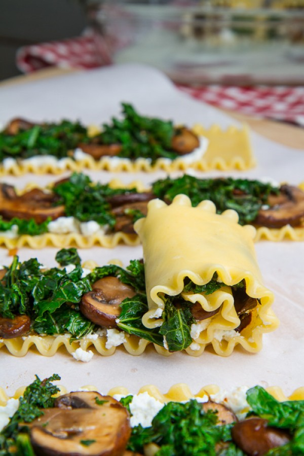 Get the #recipe #Mushroom and Kale #Lasagna Roll-Ups @recipes_to_go
