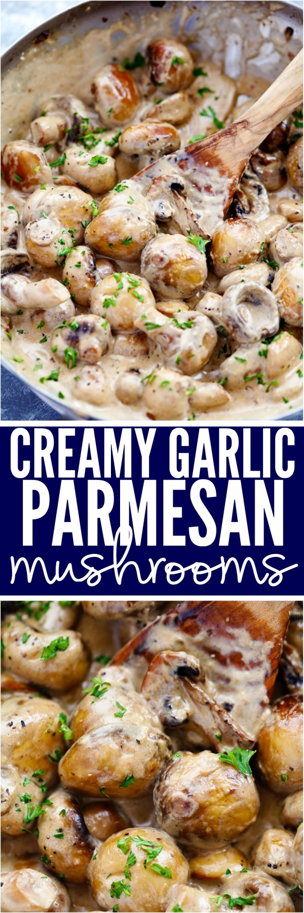 Get the #recipe Creamy Garlic Parmesan #Mushrooms @recipes_to_go