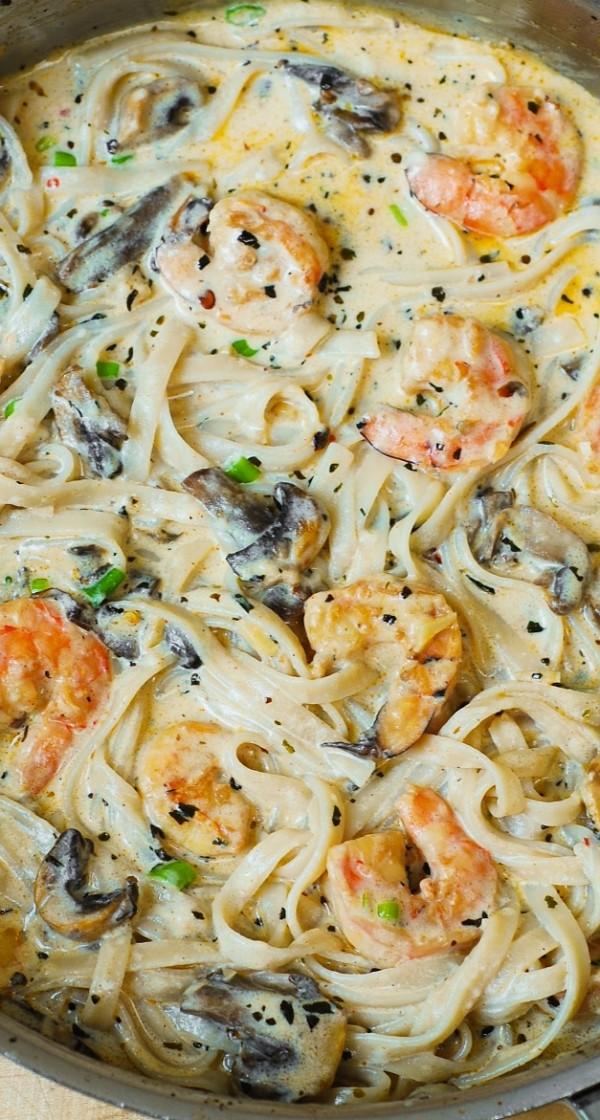 Get the #recipe Creamy Shrimp and #Mushroom Pasta @recipes_to_go