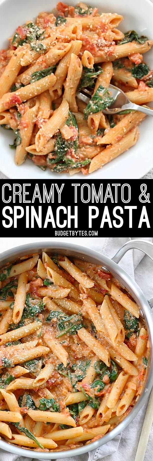 Get the recipe Creamy Tomato Spinach Pasta @recipes_to_go