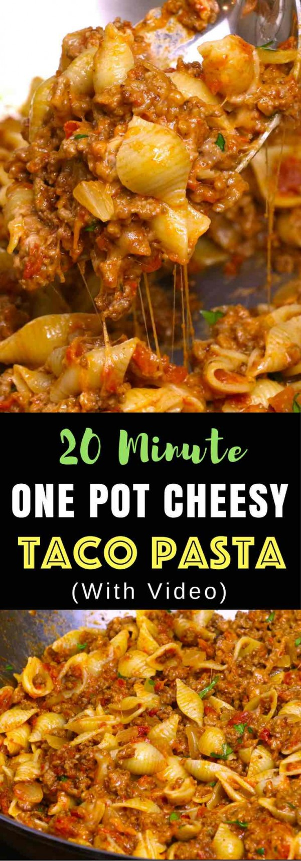 Get the recipe One Pot Cheesy Taco Pasta @recipes_to_go