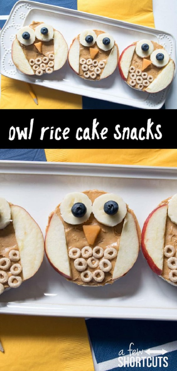 Get the recipe for owl rice cake snacks #healthy #kids #picky @recipes_to_go