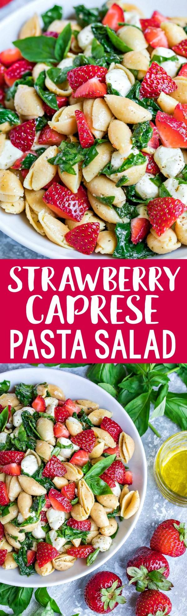 Get the recipe Strawberry Caprese Pasta Salad @recipes_to_go