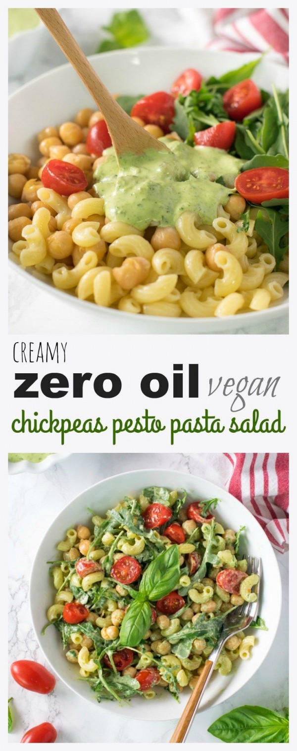 Get the recipe Chickpeas Pesto Pasta Salad @recipes_to_go