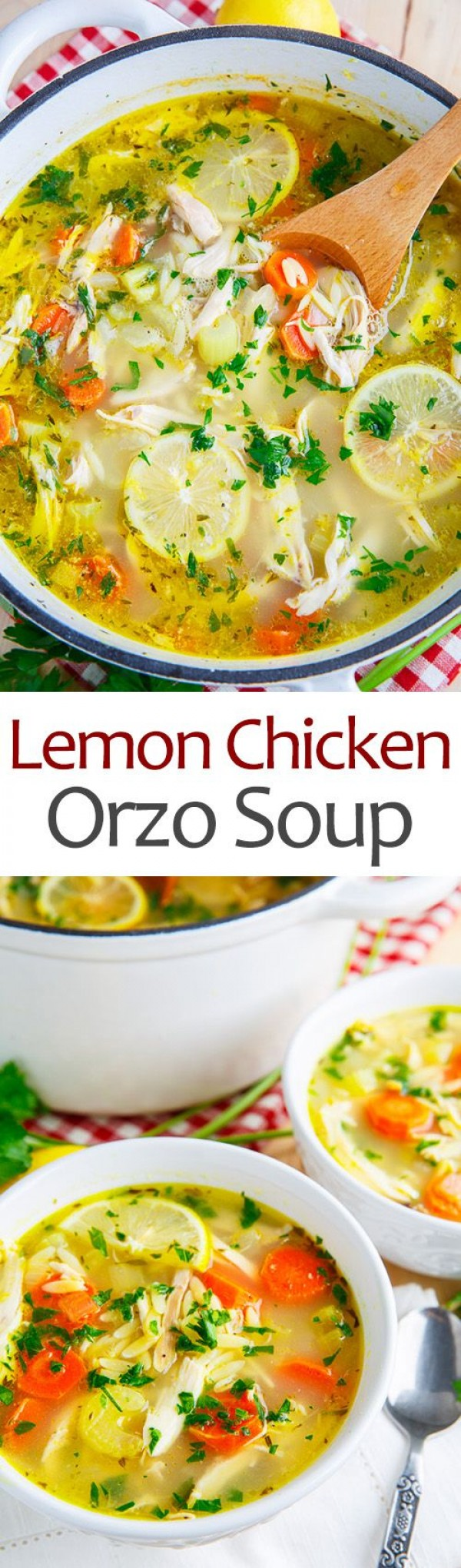 Get the recipe Lemon Chicken Orzo Soup @recipes_to_go