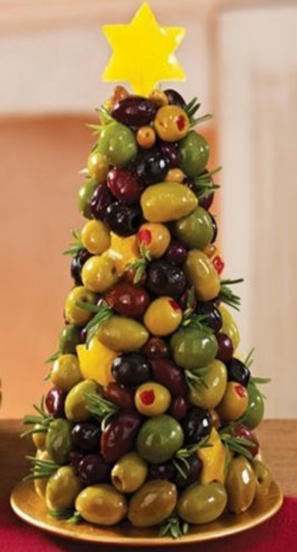 Get the recipe Mixed Olive Christmas Tree @recipes_to_go