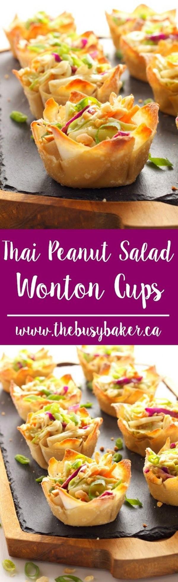 Get the recipe Thai Peanut Salad Won-ton Cups @recipes_to_go