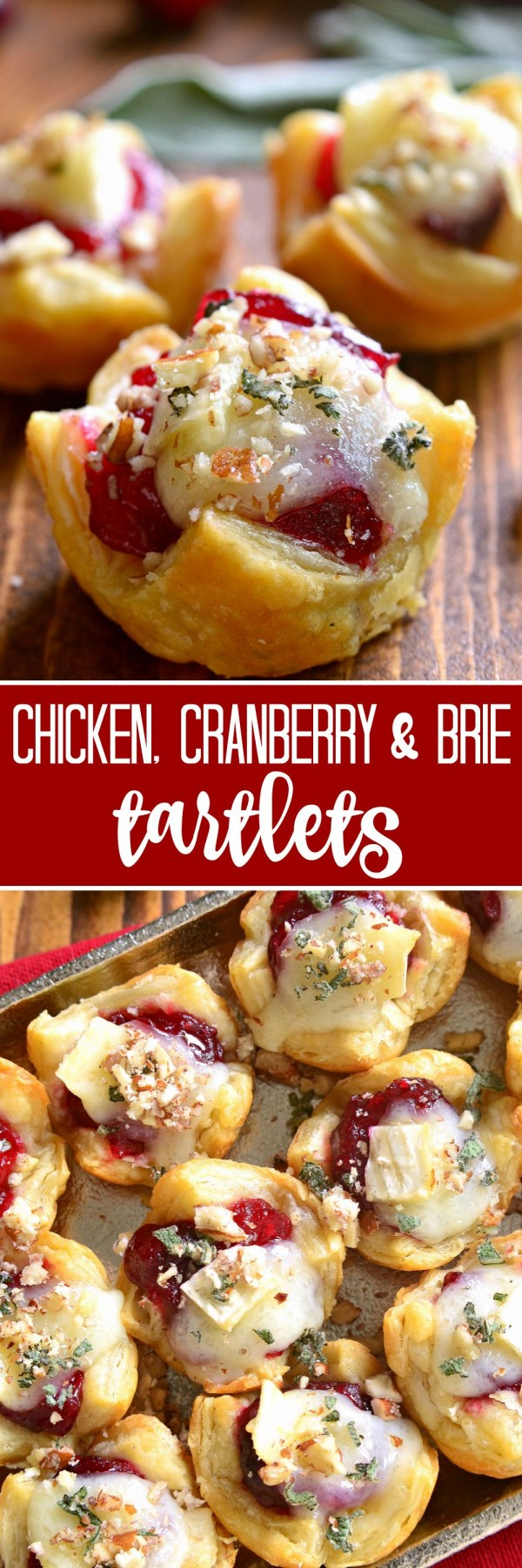 Get the recipe Chicken Cranberry and Brie Tart-lets @recipes_to_go