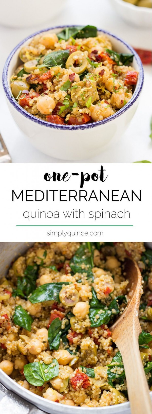 Get the recipe Mediterranean Quinoa with Spinach @recipes_to_go