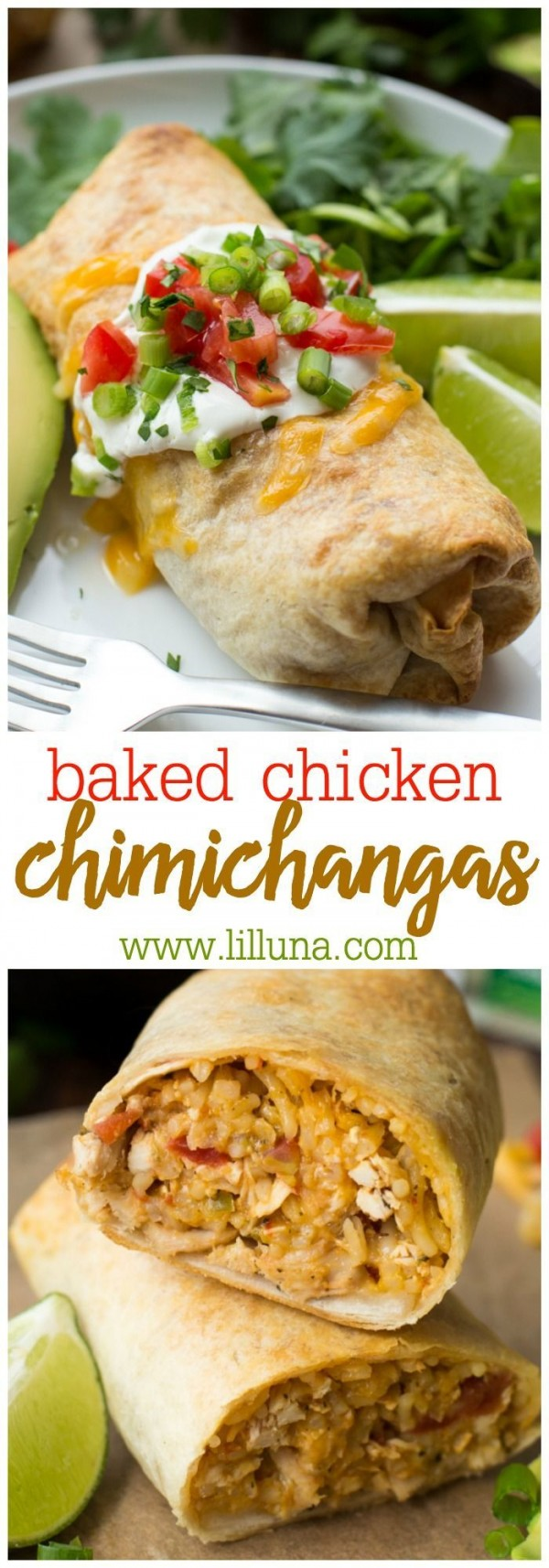 Get the recipe Baked Chicken Chimichangas @recipes_to_go