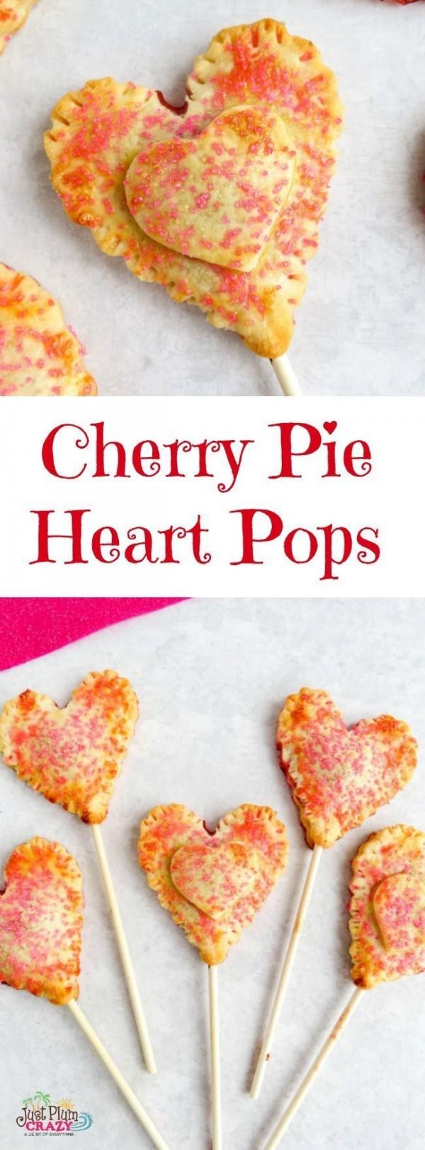 Get the recipe Cherry Pie Hearts Pops @recipes_to_go