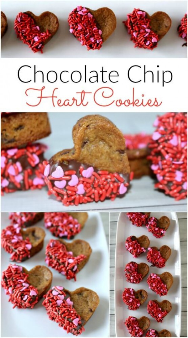 Get the recipe Chocolate Chip Heart Cookies @recipes_to_go