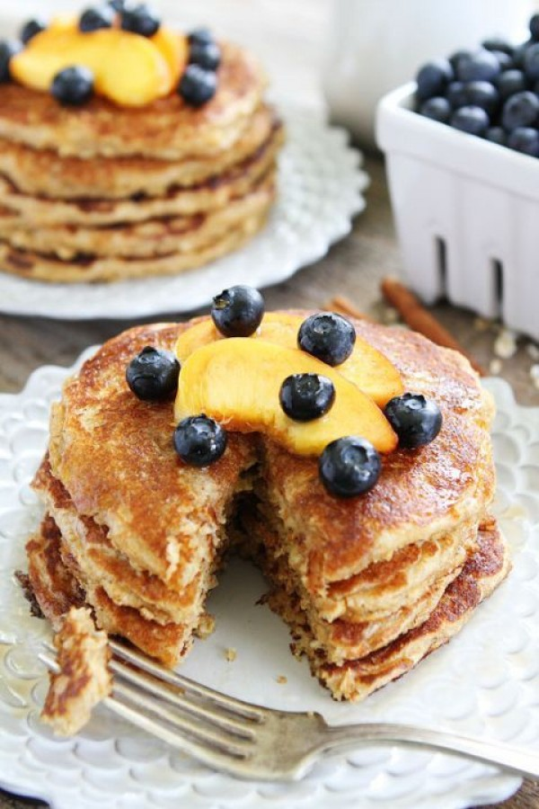 Get the recipe Cinnamon Oatmeal Pancakes @recipes_to_go
