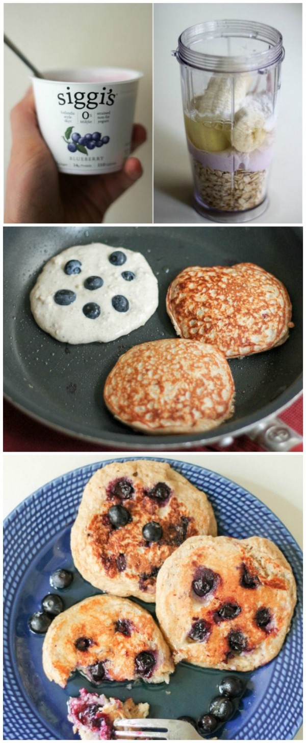 Get the recipe Oatmeal Blueberry Yogurt Pancakes @recipes_to_go
