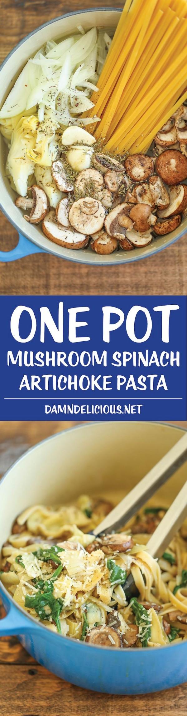 Get the recipe Mushroom Spinach Artichoke Pasta @recipes_to_go
