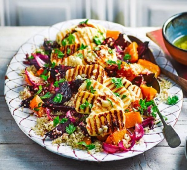 Get the recipe Roasted Vegetable Quinoa Salad with Halloumi @recipes_to_go