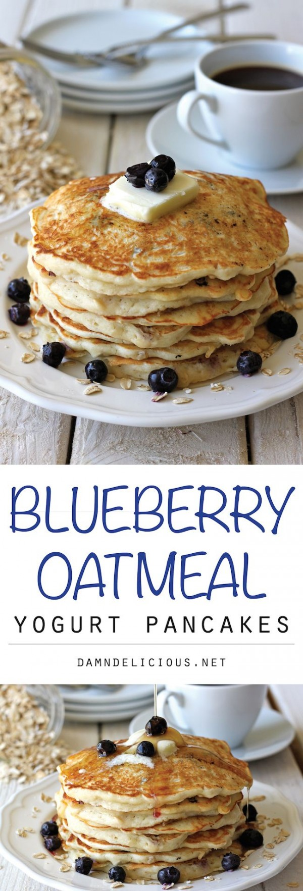 Get the recipe Blueberry Oatmeal Yogurt Pancakes @recipes_to_go