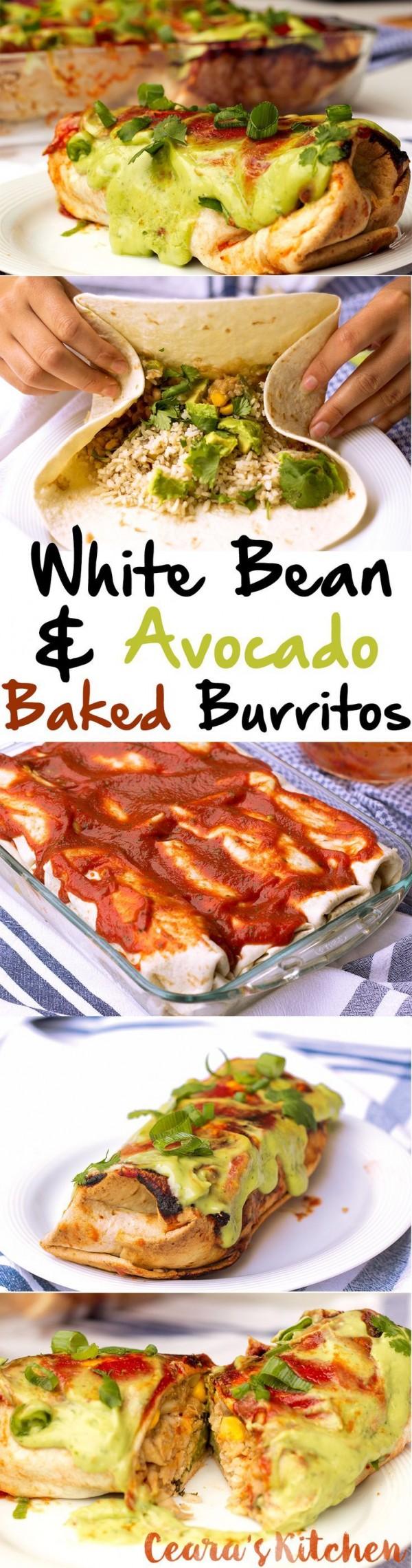 Get the recipe White Bean and Avocado Baked Burritos @recipes_to_go