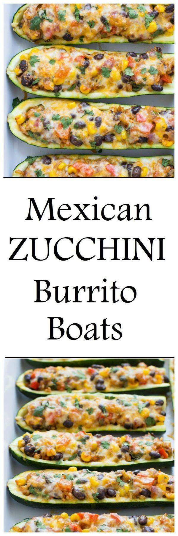 Get the recipe Mexican Zucchini Burrito Boats @recipes_to_go