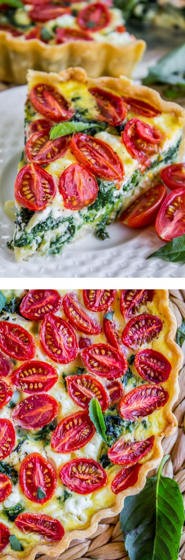 Get the recipe Cherry Tomato Leek and Spinach Quiche @recipes_to_go