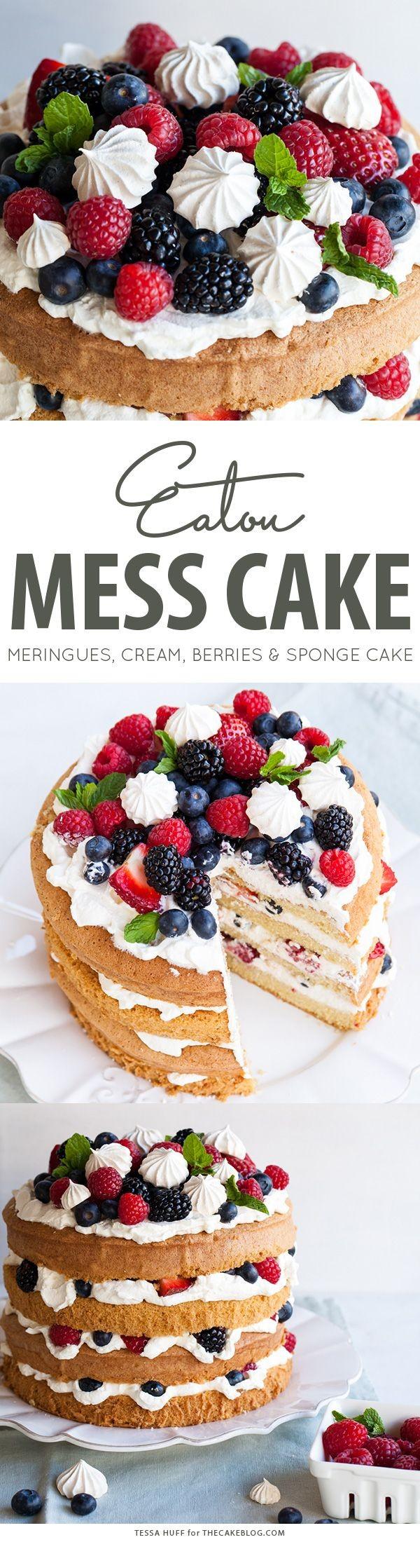 Get the recipe Meringues Cream Berries and Sponge Cake @recipes_to_go