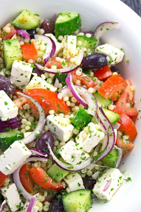 Get teh recipe Couscous Greek Salad @recipes_to_go